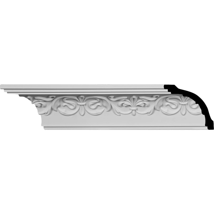 Ekena Millwork 3.25-in x 8-ft Urethane Fleur-De-Lis Crown Moulding