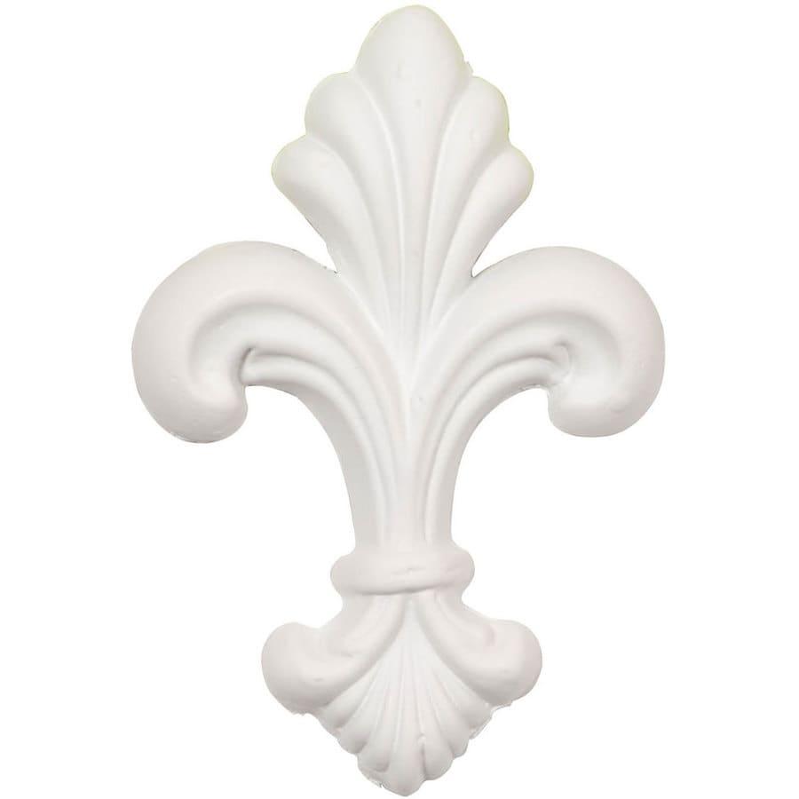 Ekena Millwork 2.75-in x 4-in Fleur-De-Lis Urethane Applique