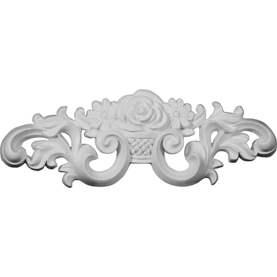 Ekena Millwork 13.75-in x 4.75-in Flower Primed Urethane Applique