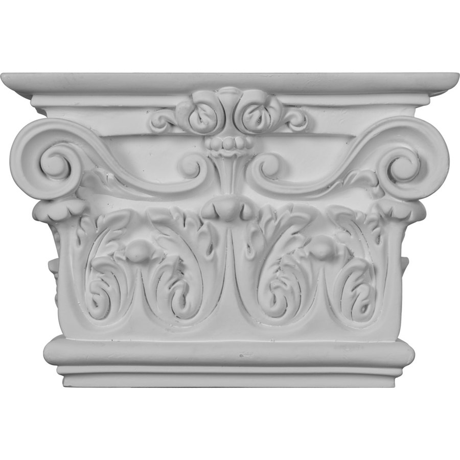 Ekena Millwork 10.375-in x 0.63-in Primed Polyurethane Capital Entry Door Casing Accent