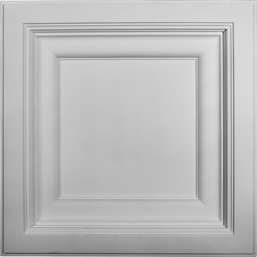 Ekena Millwork Classic White Patterned 3/4-in Drop Ceiling Tiles (Common: 24-in x 24-in; Actual: 24-in x 24-in)