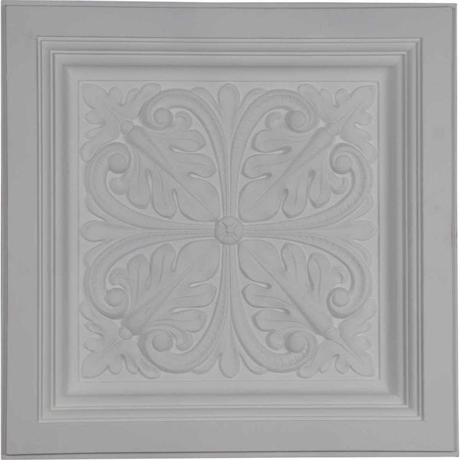 Ekena Millwork Cornelia Primed Patterned 3/4-in Drop Ceiling Tiles (Common: 24-in x 24-in; Actual: 23.875-in x 23.875-in)