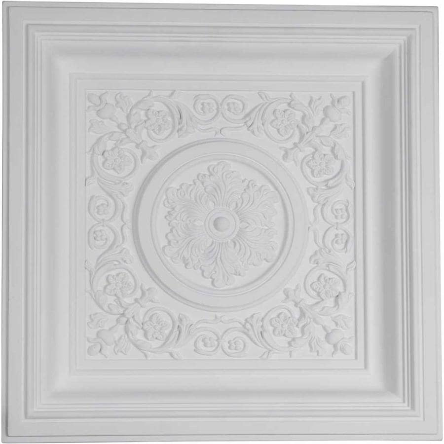 Ekena Millwork Nicole Primed Patterned 3/4-in Drop Ceiling Tiles (Common: 24-in x 24-in; Actual: 23.875-in x 23.875-in)