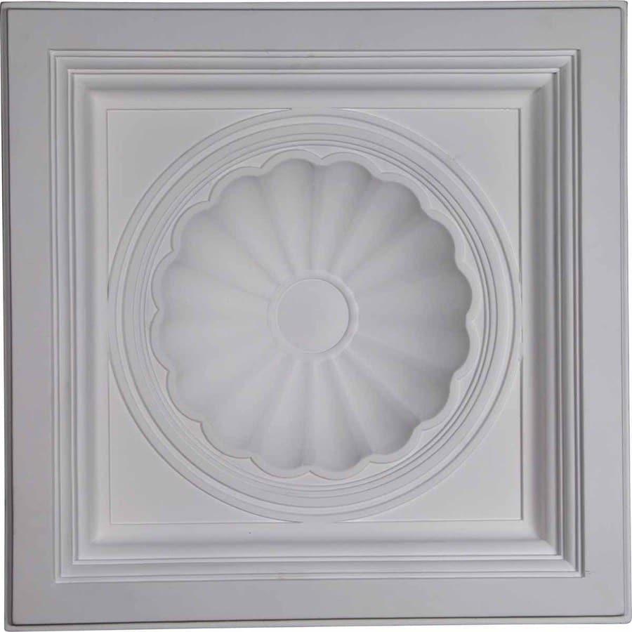 Ekena Millwork Shell Primed Patterned 3/4-in Drop Ceiling Tiles ...