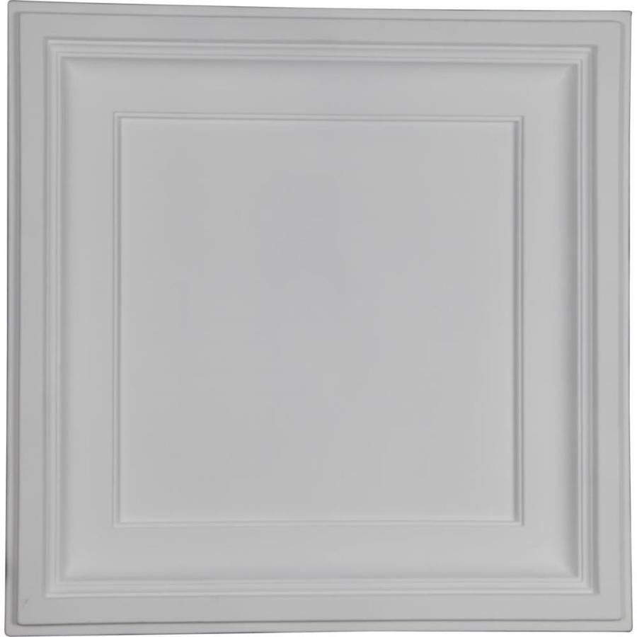 Ekena Millwork Traditional Primed Patterned 3/4-in Drop Ceiling Tiles (Common: 24-in x 24-in; Actual: 23.875-in x 23.875-in)