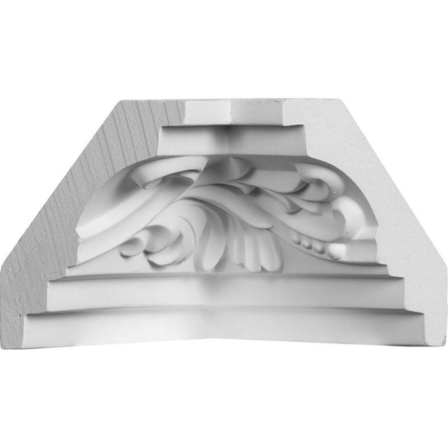 Ekena Millwork 2.75-in x 2.75-in Primed Polyurethane Inside Corner Crown Moulding Block