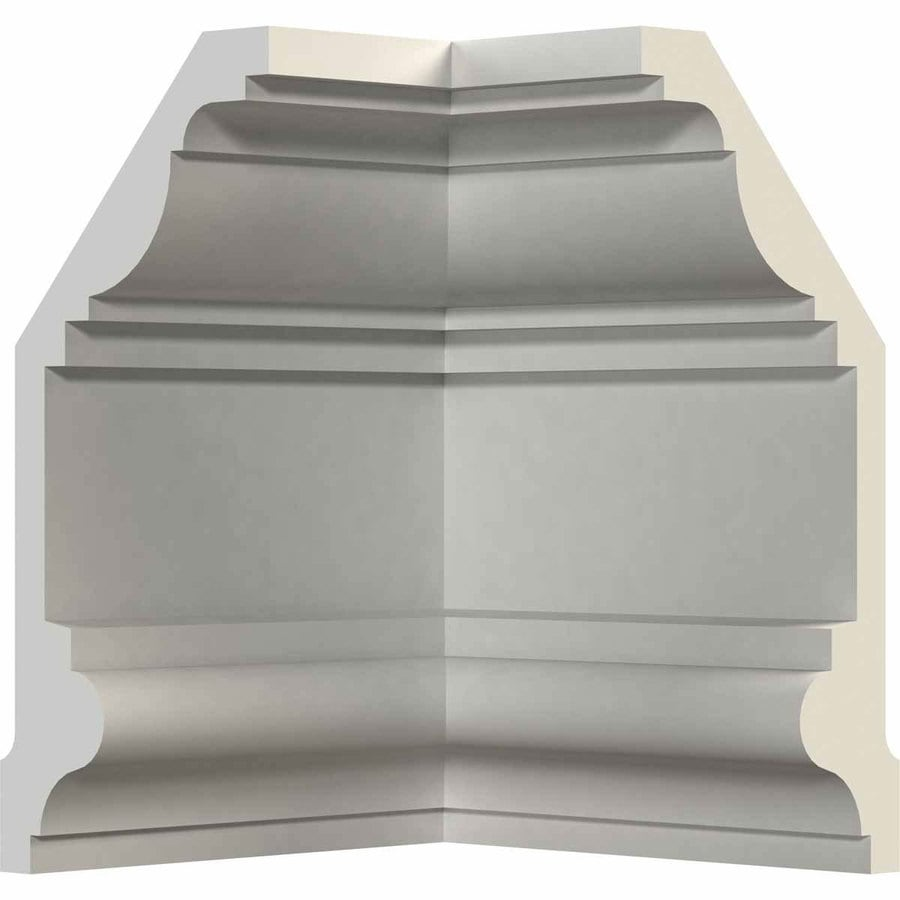 Ekena Millwork 9-in x 9-in Primed Polyurethane Inside Corner Crown Moulding Block