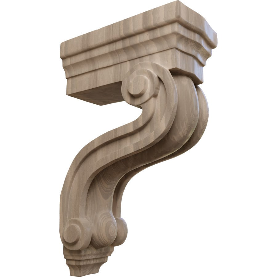 Ekena Millwork 3.375-in x 10.5-in Walnut Los Angeles Wood Corbel