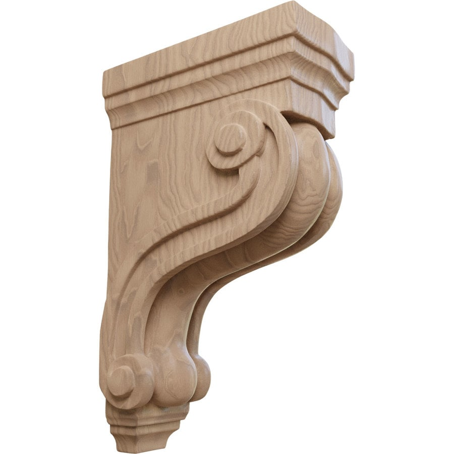 Ekena Millwork 3.375-in x 10.5-in Mahogany Boston Traditional Wood Corbel