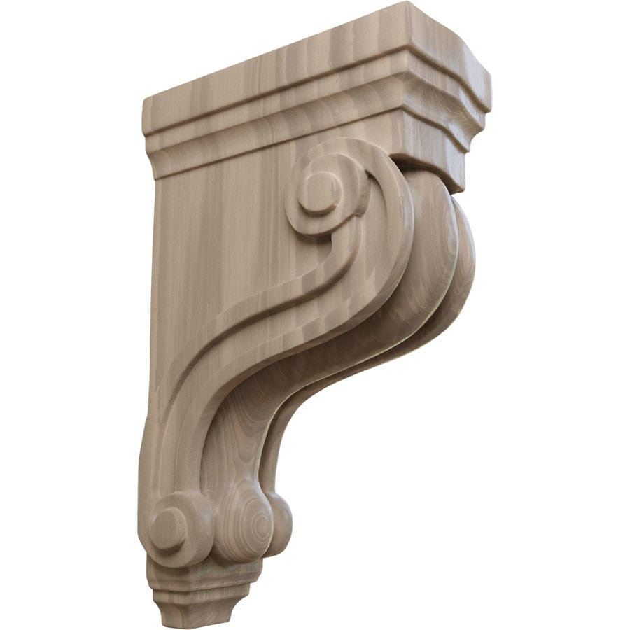 Ekena Millwork 3.375-in x 10.5-in Walnut Boston Traditional Wood Corbel