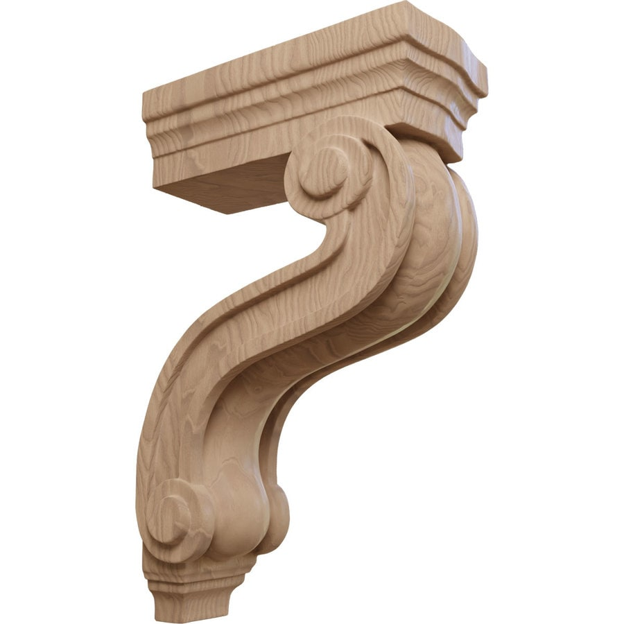 Ekena Millwork 3.875-in x 13-in Mahogany Los Angeles Wood Corbel