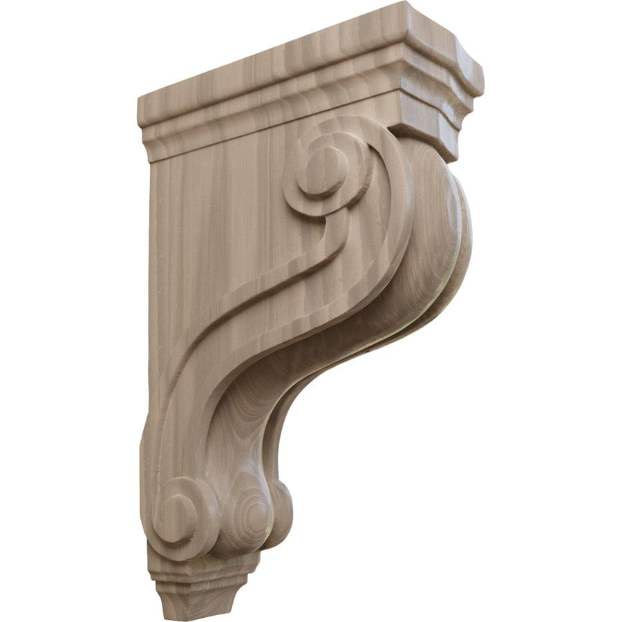 Ekena Millwork 3.875-in x 13-in Walnut Boston Traditional Wood Corbel