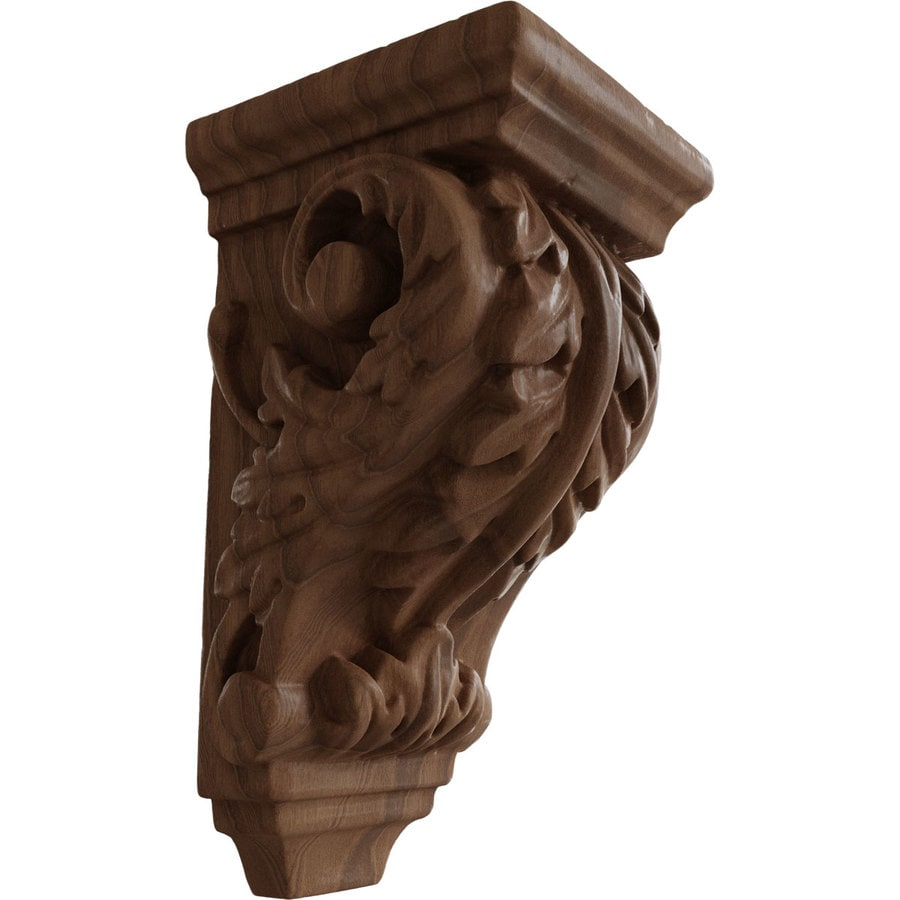 Ekena Millwork 2.25-in x 4.25-in Acanthus Mahogany Corbel