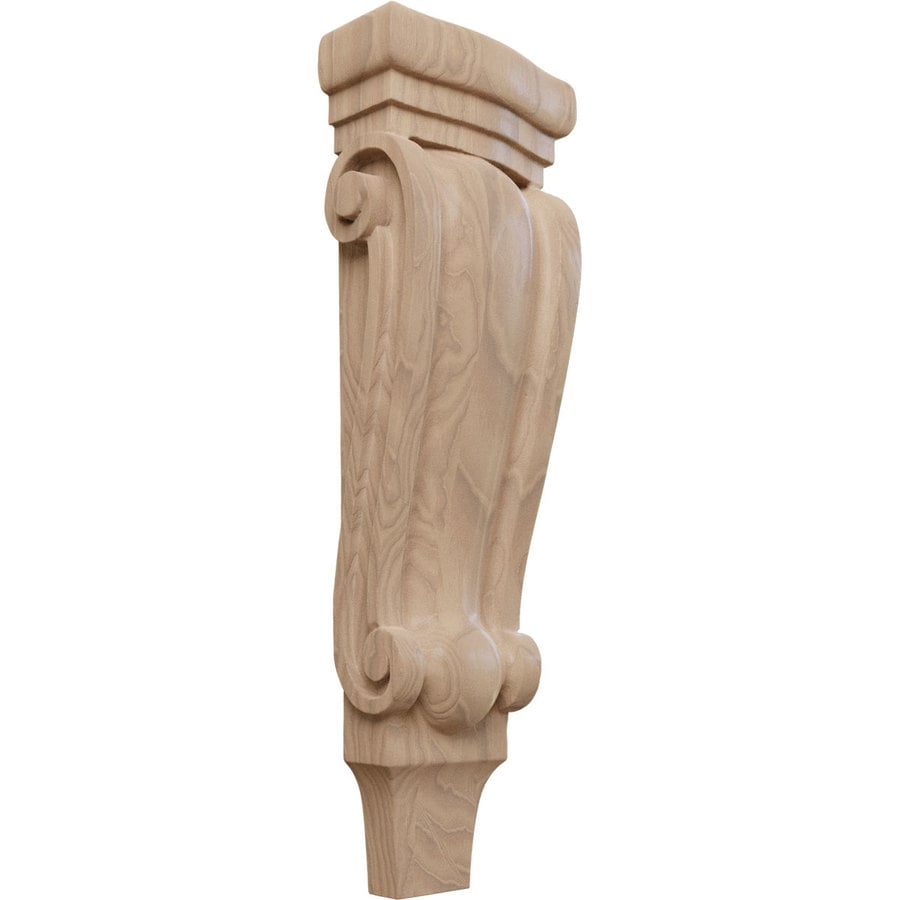 Ekena Millwork 5.125-in x 15.5-in Mahogany Traditional Wood Corbel