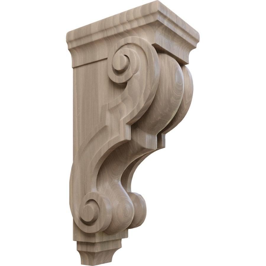 Ekena Millwork 5-in x 14-in Walnut Traditional Wood Corbel