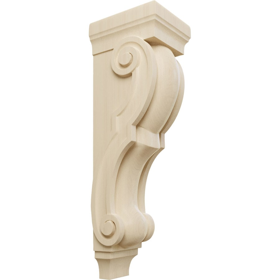 Ekena Millwork 7-in x 26-in Traditional Rubberwood Corbel