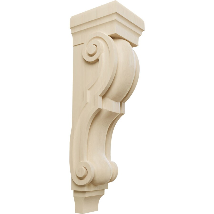 Ekena Millwork 8-in x 30-in Rubberwood Traditional Wood Corbel