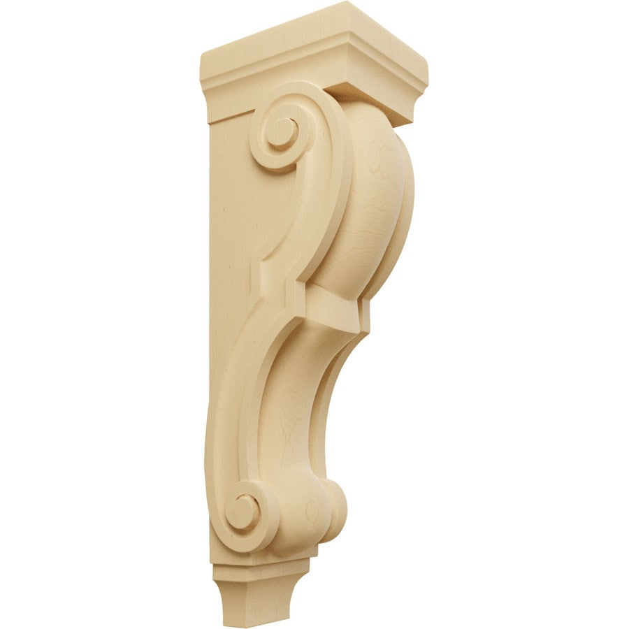 Ekena Millwork 7-in x 26-in Alder Traditional Wood Corbel