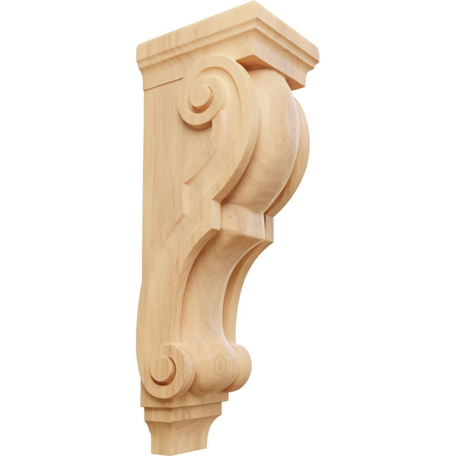 Ekena Millwork 6.5-in x 22-in Red oak Wood Corbel