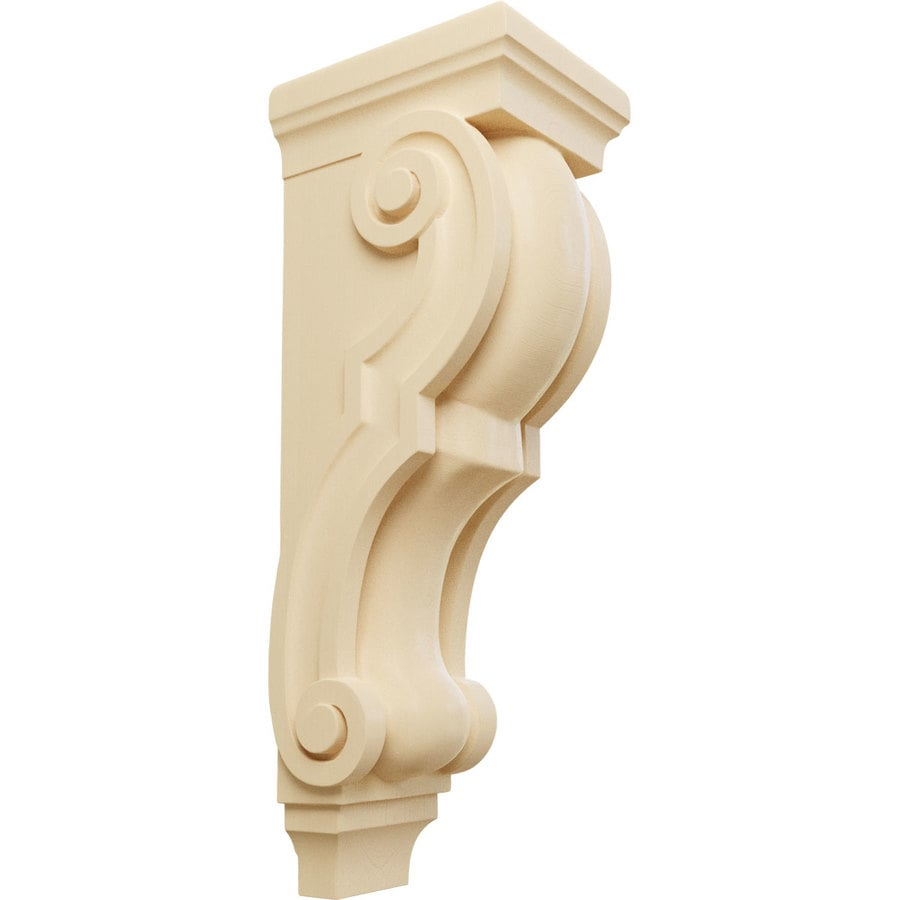 Ekena Millwork 6.5-in x 22-in Maple Traditional Wood Corbel