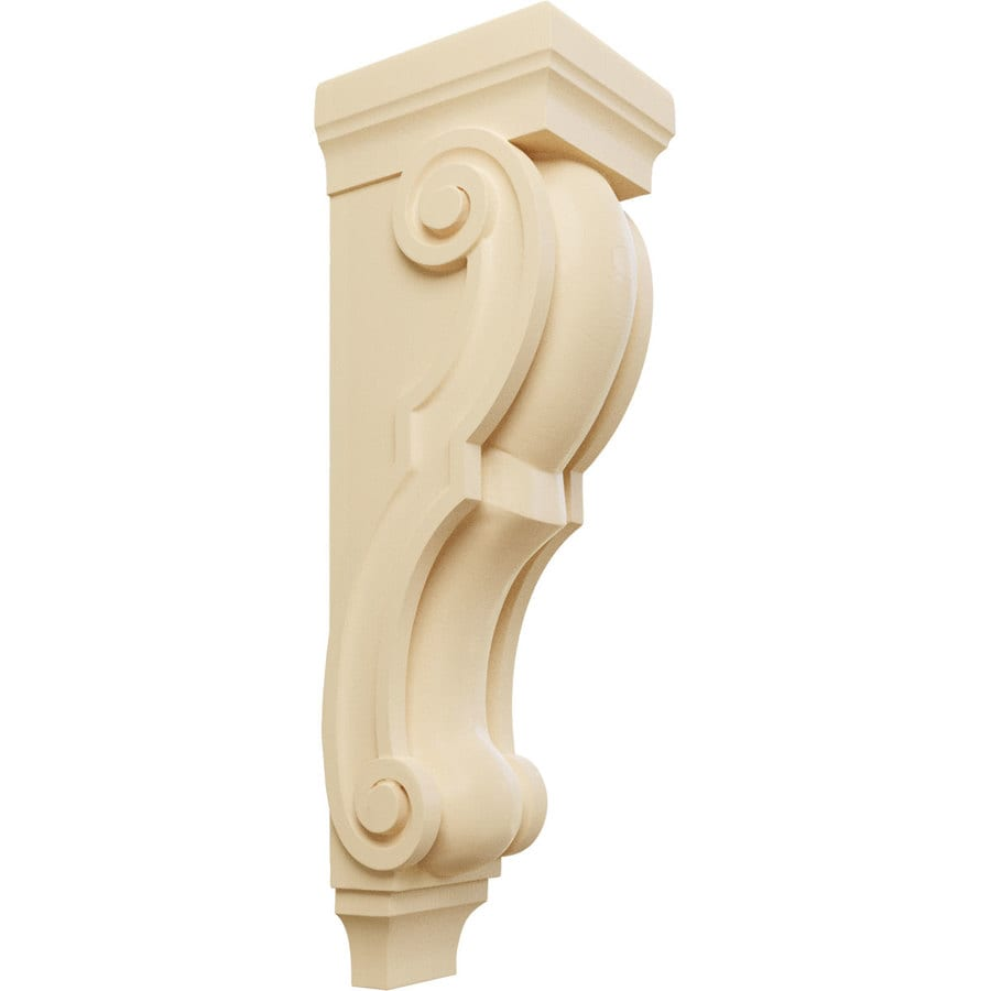 Ekena Millwork 7-in x 26-in Maple Traditional Wood Corbel