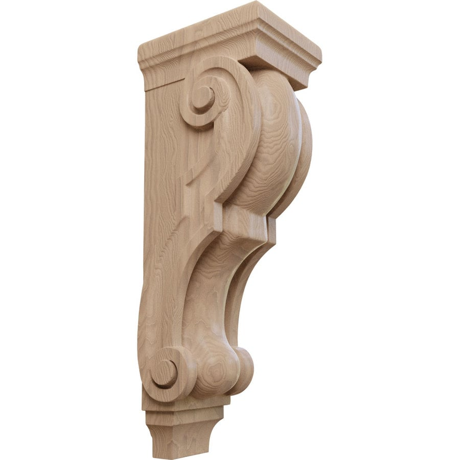 Ekena Millwork 6.5-in x 22-in Mahogany Traditional Wood Corbel