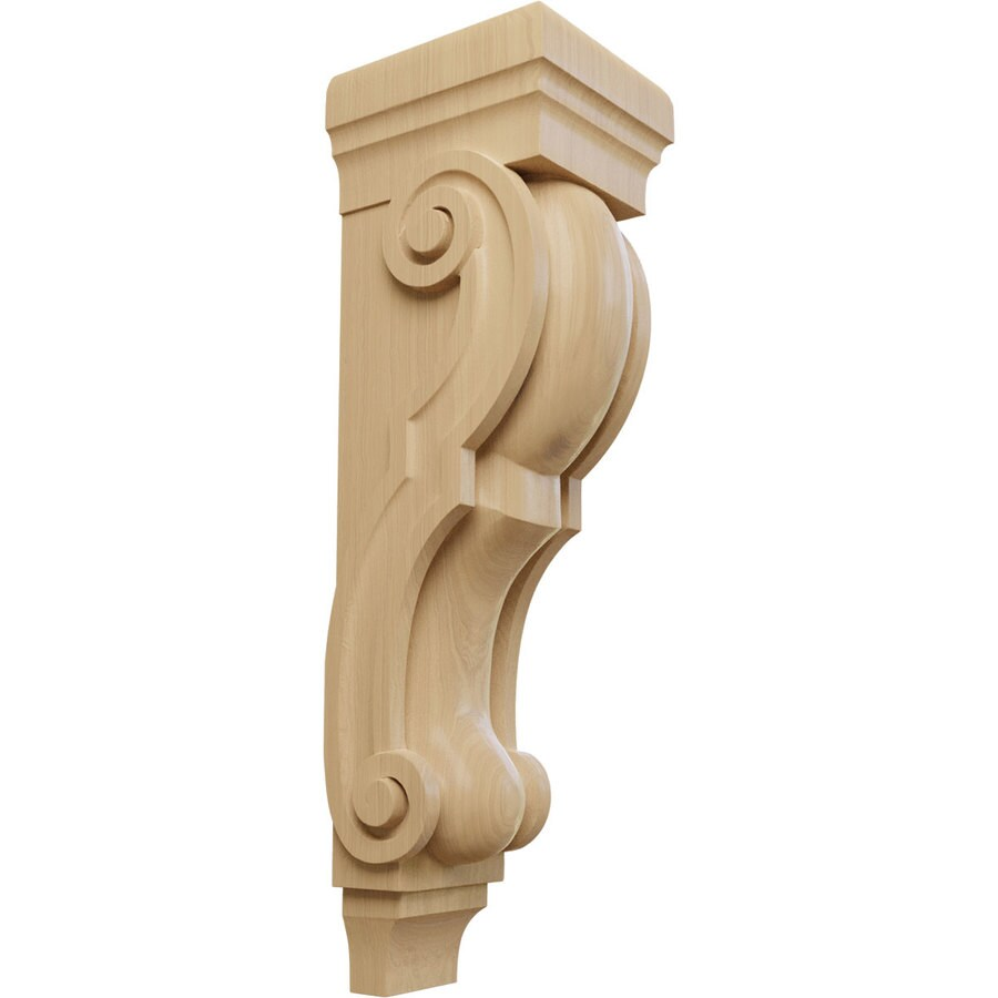 Ekena Millwork 8-in x 30-in Cherry Traditional Wood Corbel