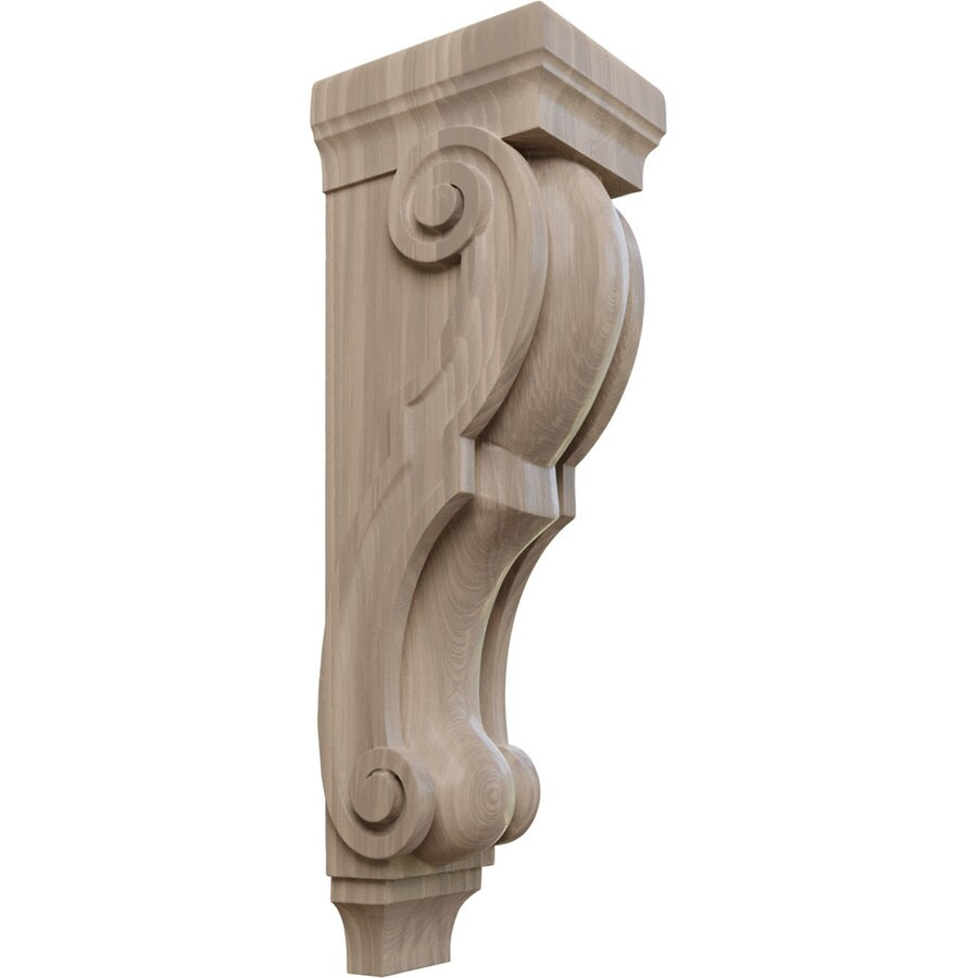 Ekena Millwork 7-in x 26-in Walnut Traditional Wood Corbel