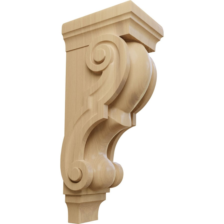 Ekena Millwork 6-in x 18-in Cherry Traditional Wood Corbel