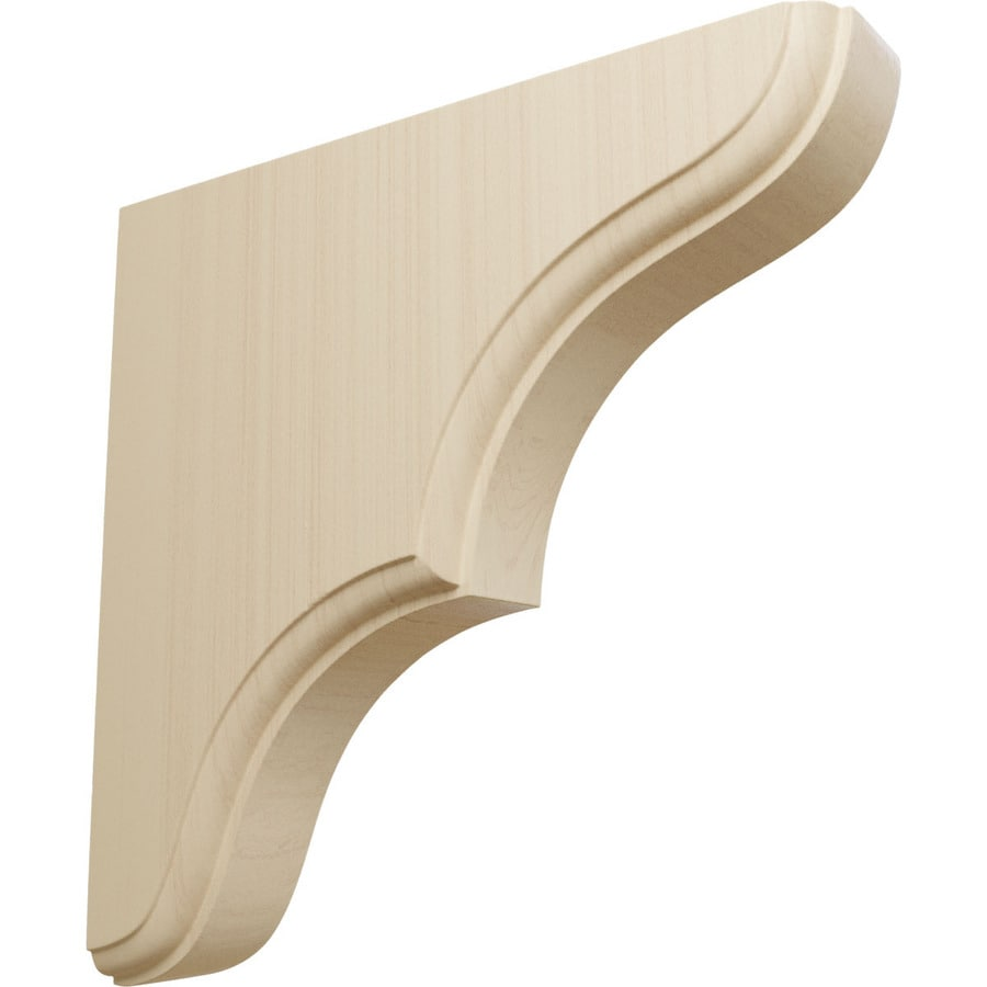 Ekena Millwork 1.75-in x 7.5-in Rubberwood Stratford Wood Corbel