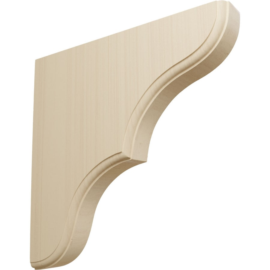 Ekena Millwork 1.75-in x 10-in Rubberwood Stratford Wood Corbel