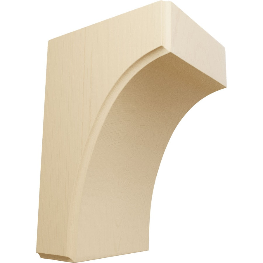 Ekena Millwork 3.5-in x 6-in Maple Clarksville Wood Corbel