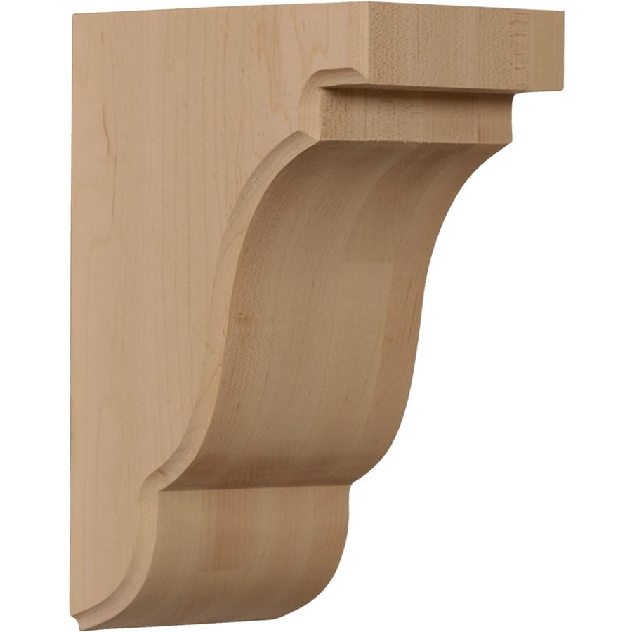 Ekena Millwork 3.5-in x 7.5-in Maple Bedford Wood Corbel