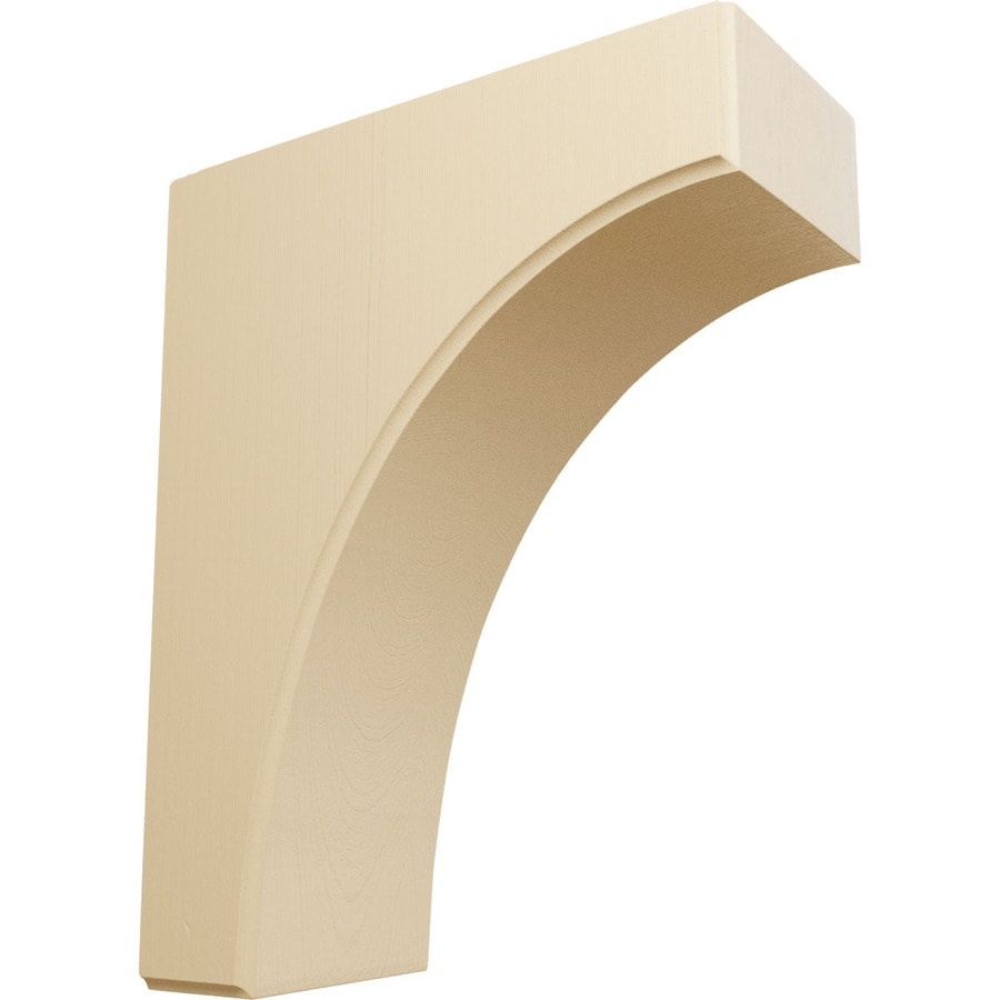 Ekena Millwork 3.5-in x 10-in Maple Clarksville Wood Corbel