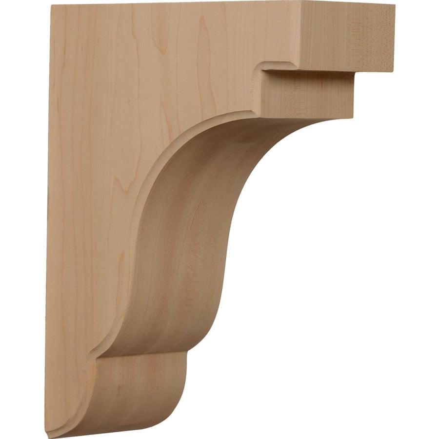 Ekena Millwork 3.5-in x 11-in Bedford Mahogany Corbel