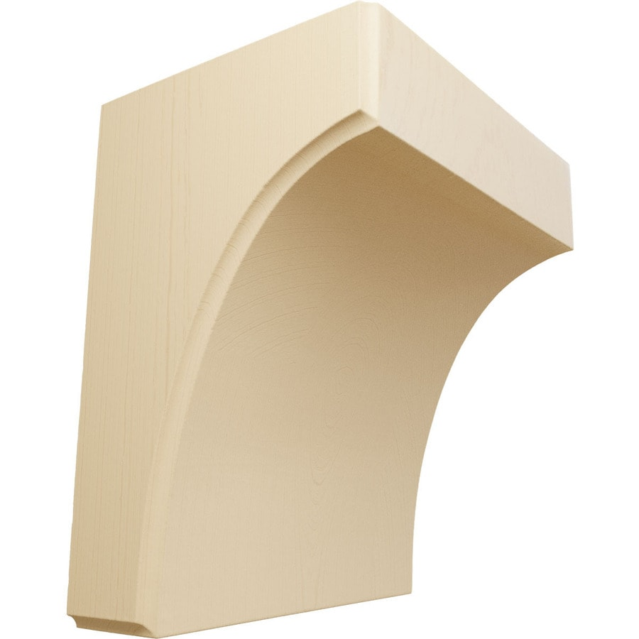 Ekena Millwork 5.25-in x 6-in Maple Clarksville Wood Corbel