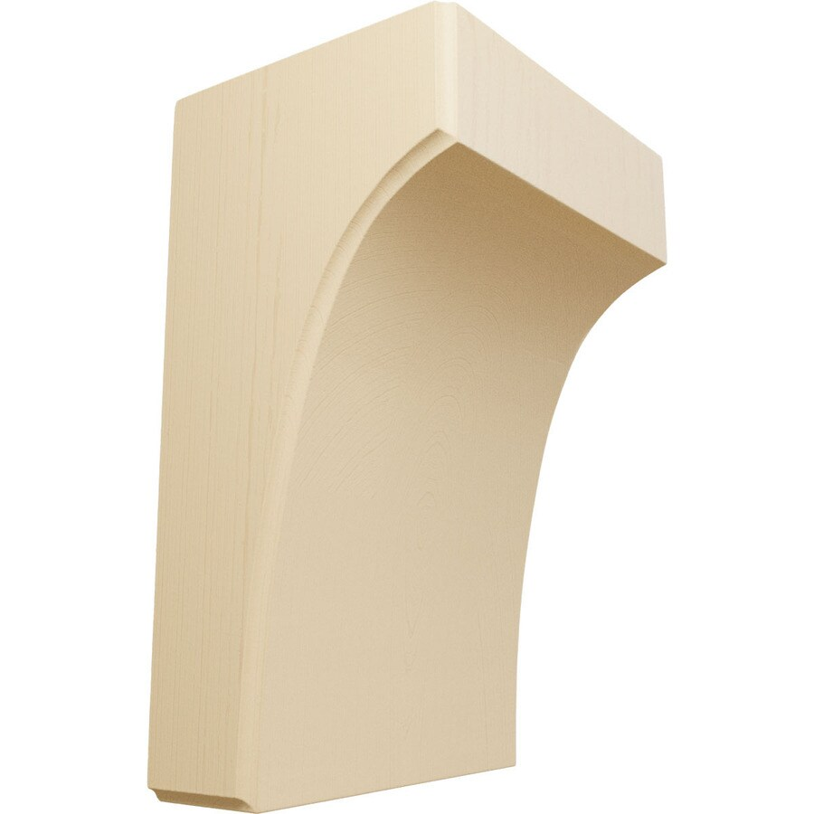 Ekena Millwork 5.25-in x 8-in Maple Clarksville Wood Corbel