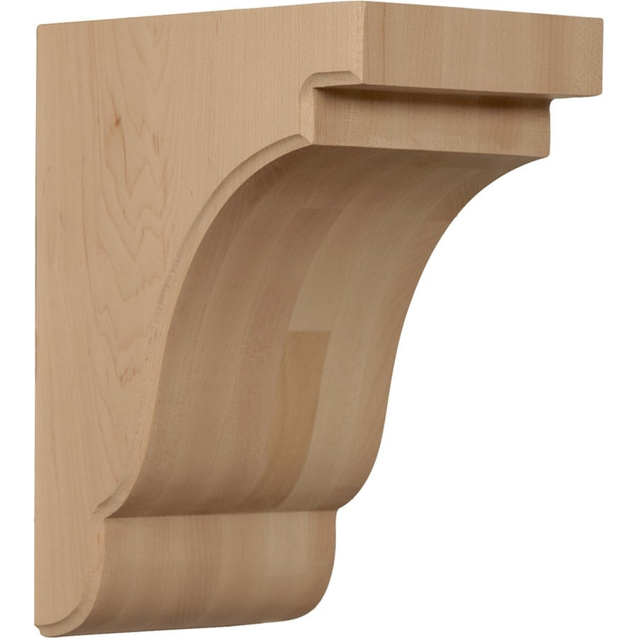 Ekena Millwork 5.25-in x 9.5-in Cherry Bedford Wood Corbel