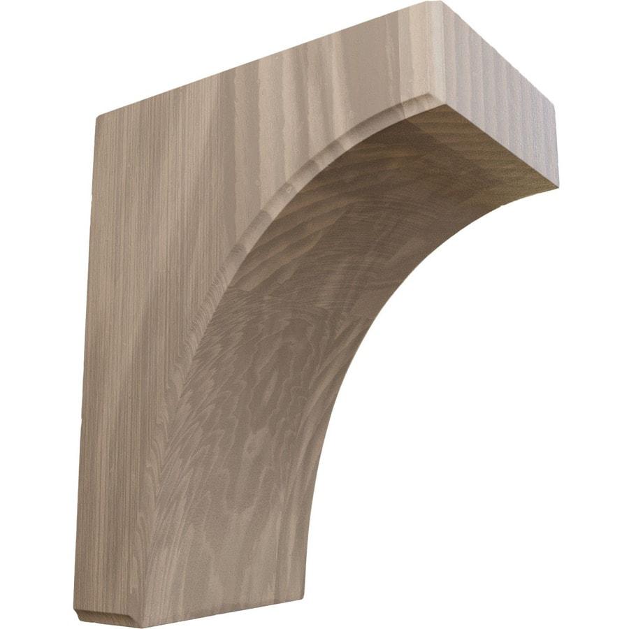Ekena Millwork 5.25-in x 10-in Walnut Wood Corbel