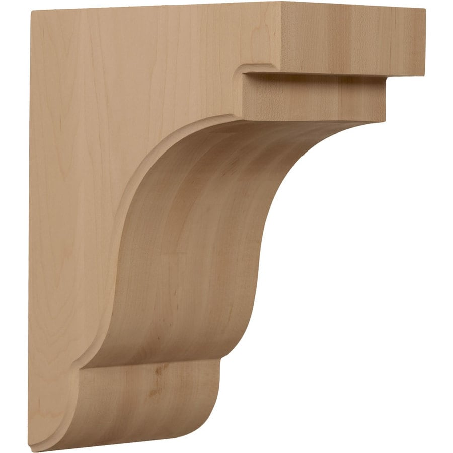 Ekena Millwork 5.25-in x 11-in Cherry Bedford Wood Corbel