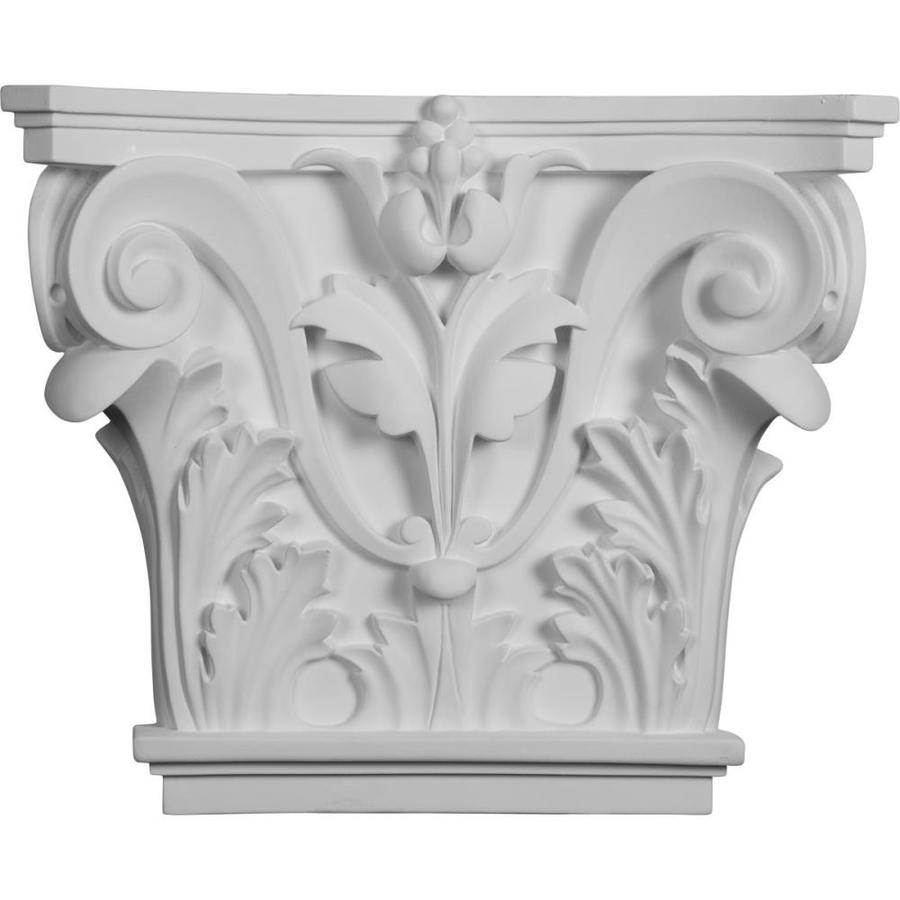 Ekena Millwork Acanthus 16.5-in x 1.14-ft Urethane Capital Entry Door Casing Accent