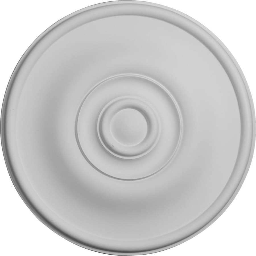 Ekena Millwork Jefferson 11.75-in x 11.75-in Polyurethane Ceiling Medallion