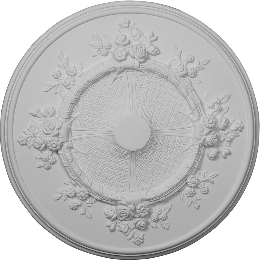 Ekena Millwork Flower 27-in x 27-in Polyurethane Ceiling Medallion