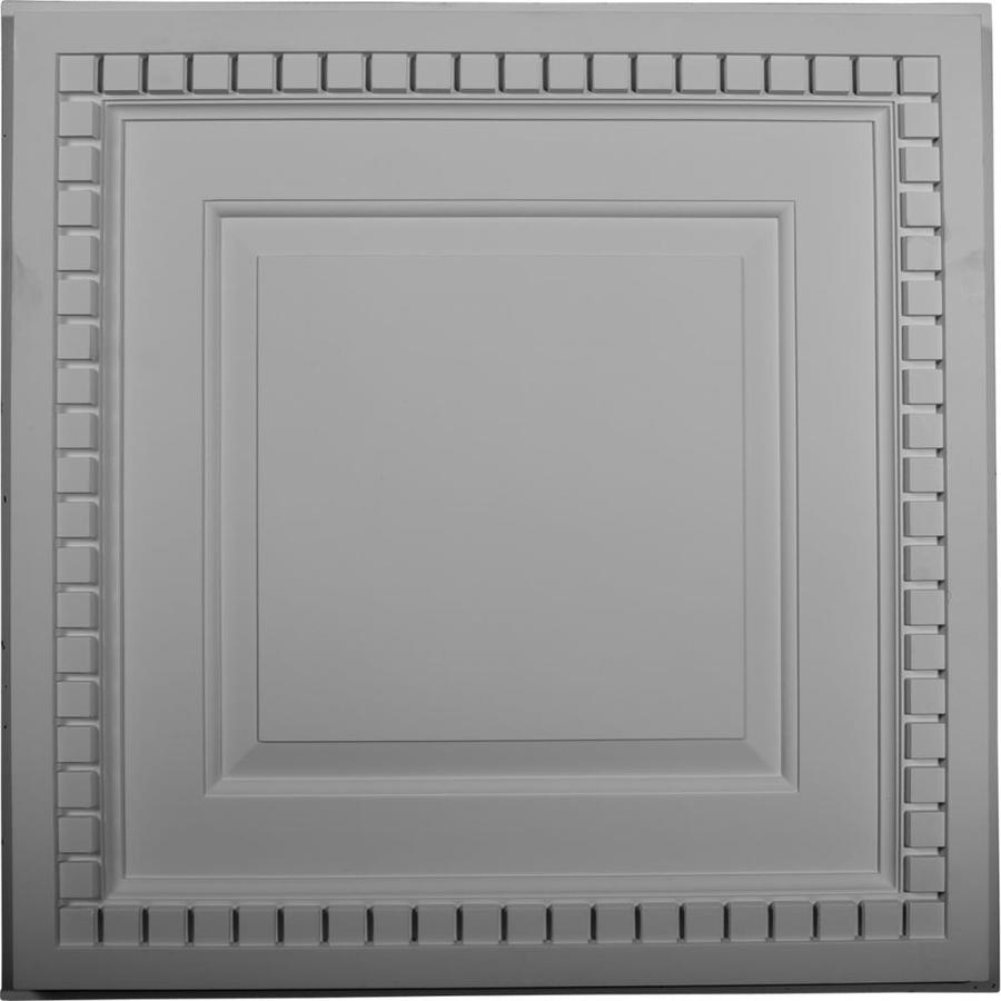 Ekena Millwork Dentil White Patterned 3/4-in Drop Ceiling Tiles (Common: 24-in x 24-in; Actual: 23.75-in x 23.75-in)