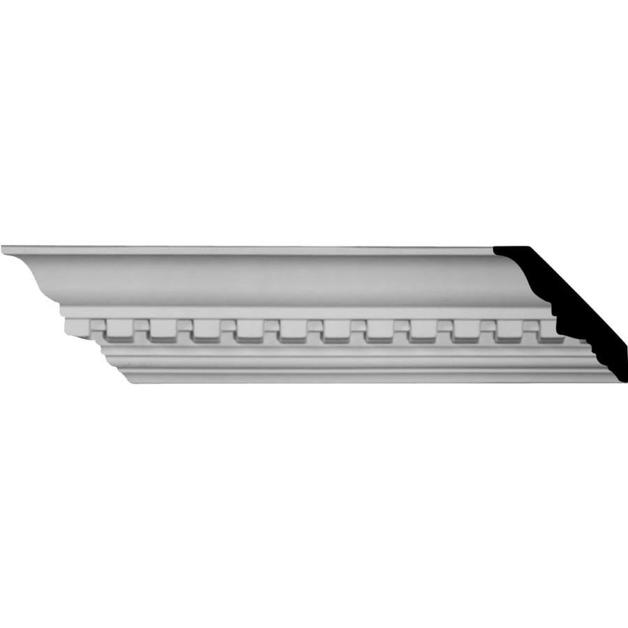 Ekena Millwork 3-in x 8.01-ft Primed Polyurethane Dentil Crown Moulding
