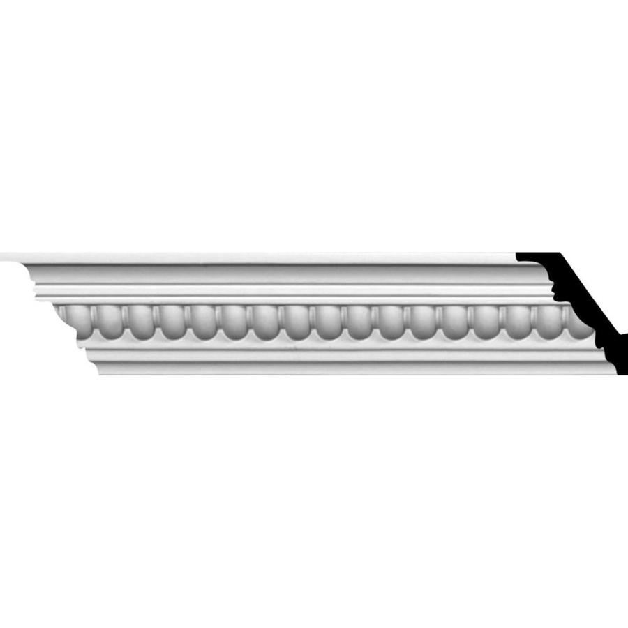 Ekena Millwork 2.375-in x 8.01-ft Primed Polyurethane Helene Crown Moulding