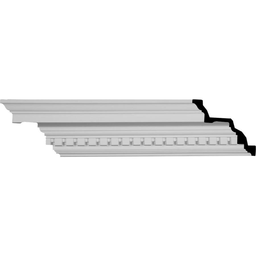 Ekena Millwork 6.375-in x 8.02-ft Polyurethane Dentil Crown Moulding