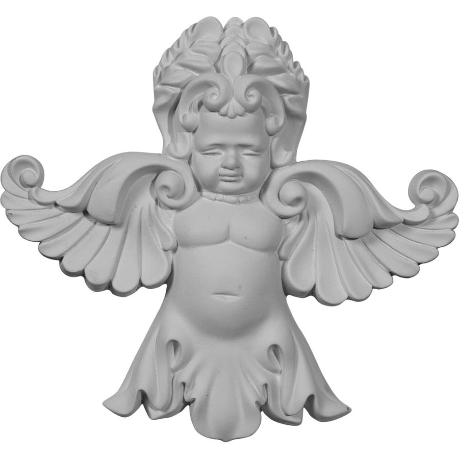 Ekena Millwork 6.5-in x 7.125-in Angel Urethane Applique