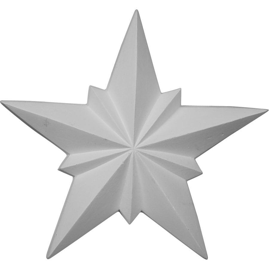 Ekena Millwork 8.25-in x 8.25-in Star Urethane Applique