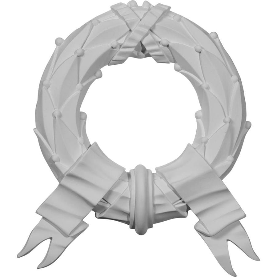 Ekena Millwork 10.25-in x 11.375-in Wreath Primed Urethane Applique
